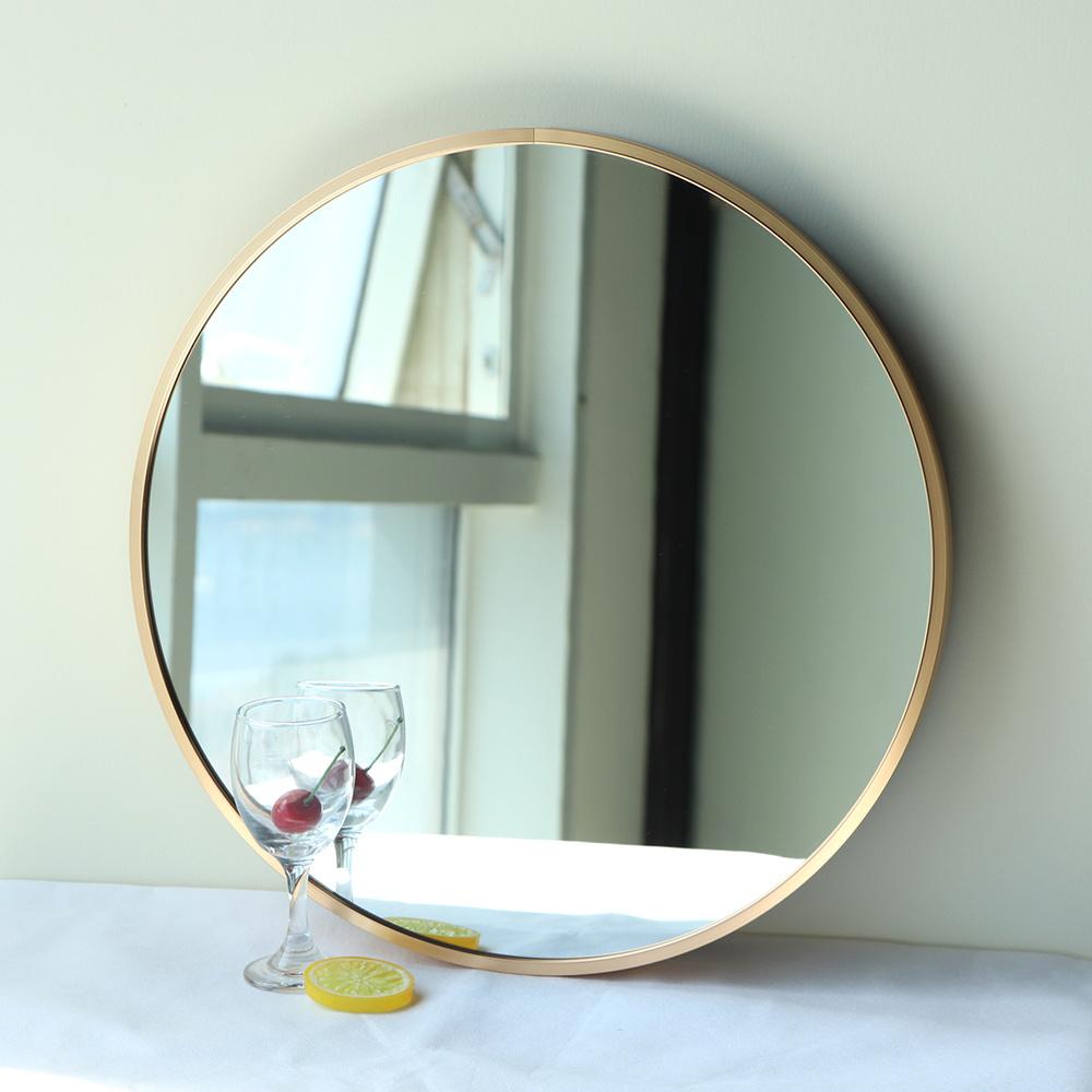 China Decorative Livingroom Frame Design Wall Mirror Mdf Wooden Round Mirror China Framed Round Bath Mirror Gold Bathroom Frame Mirror