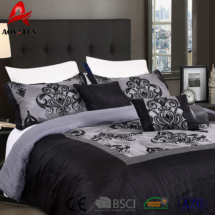 China 100 Polyester Bed Sheets Queen Size Cheap Bedding Sets For Home Use China Flock Fabric Bedding Set Polyester Bedding Set