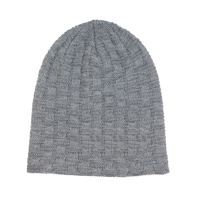 778449668 [Hot Item] Mens Double Layer Checked Caps Skiing Warm Winter Knitted  Skating Beanies Hat (HW405)