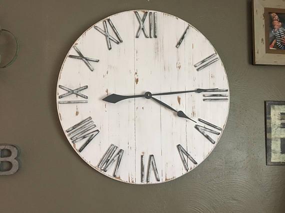 China 24 Wall Clock Farmhouse