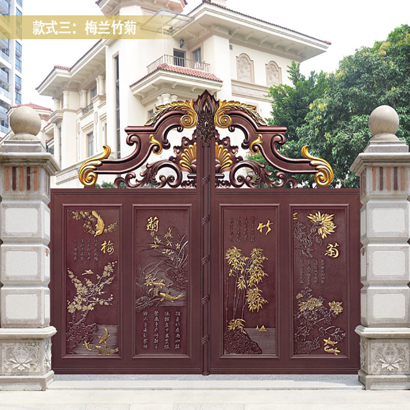 China Wrought Iron Main Gate Design Wrought Iron Main Gate Design