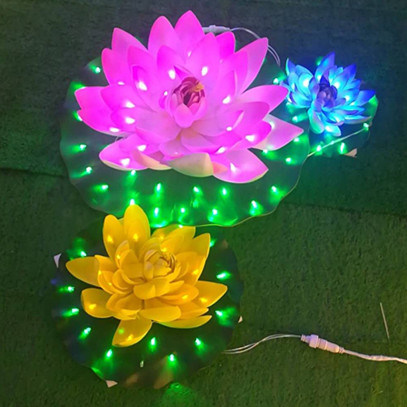 China Factory Wholesale Indoor Decorative Artificial Pink Lotus