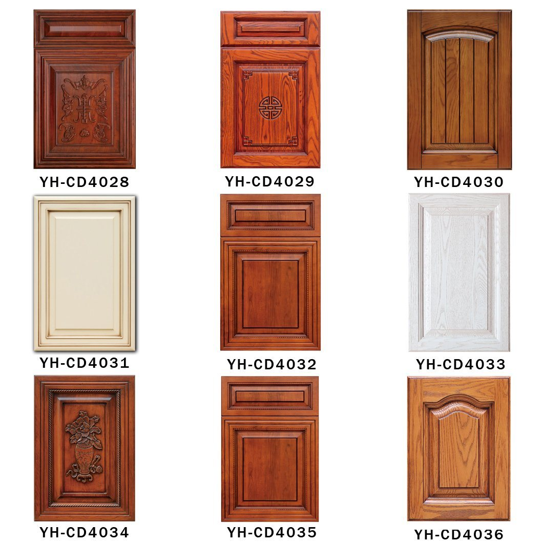 Solid wood mdf kitchen cabinet doors yh cd4001