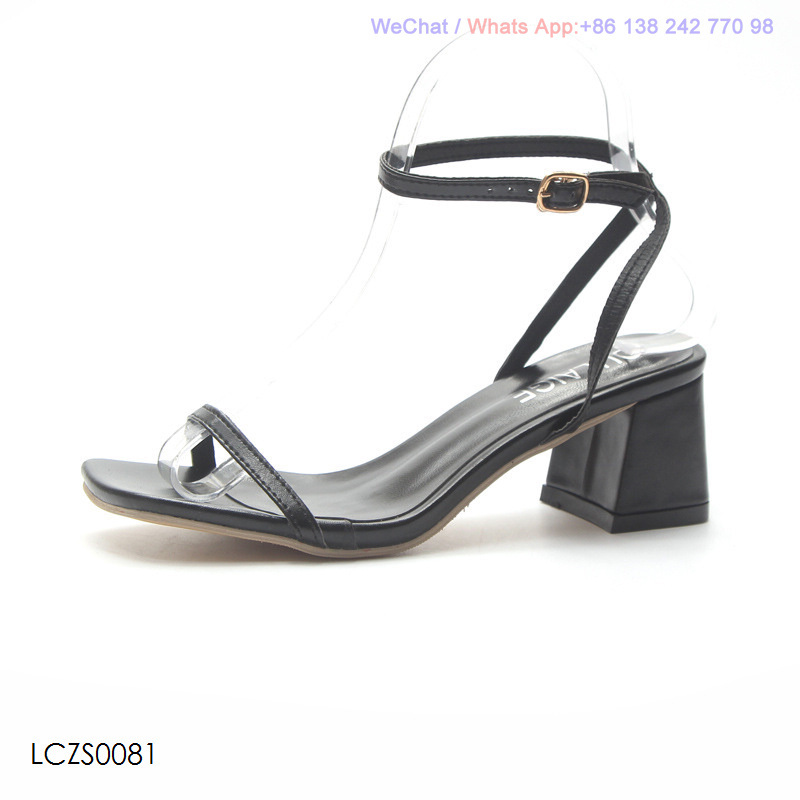 30bd1205470 [Hot Item] Womens Low Heel Block Square Shoes Ladies Ankle Strappy Sandals