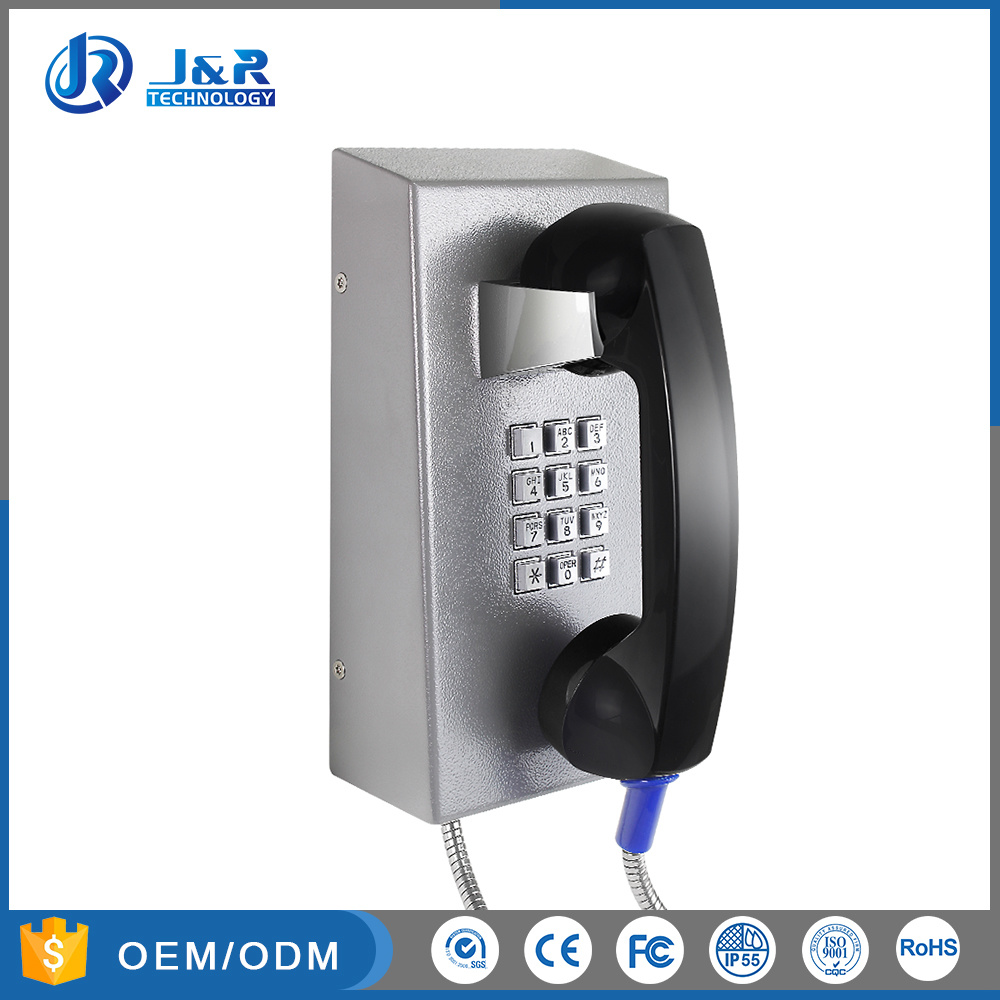 China Cold Rolled Steel Prison Voip Telephone Jail Toughphone Correctional Insute Sip Phone
