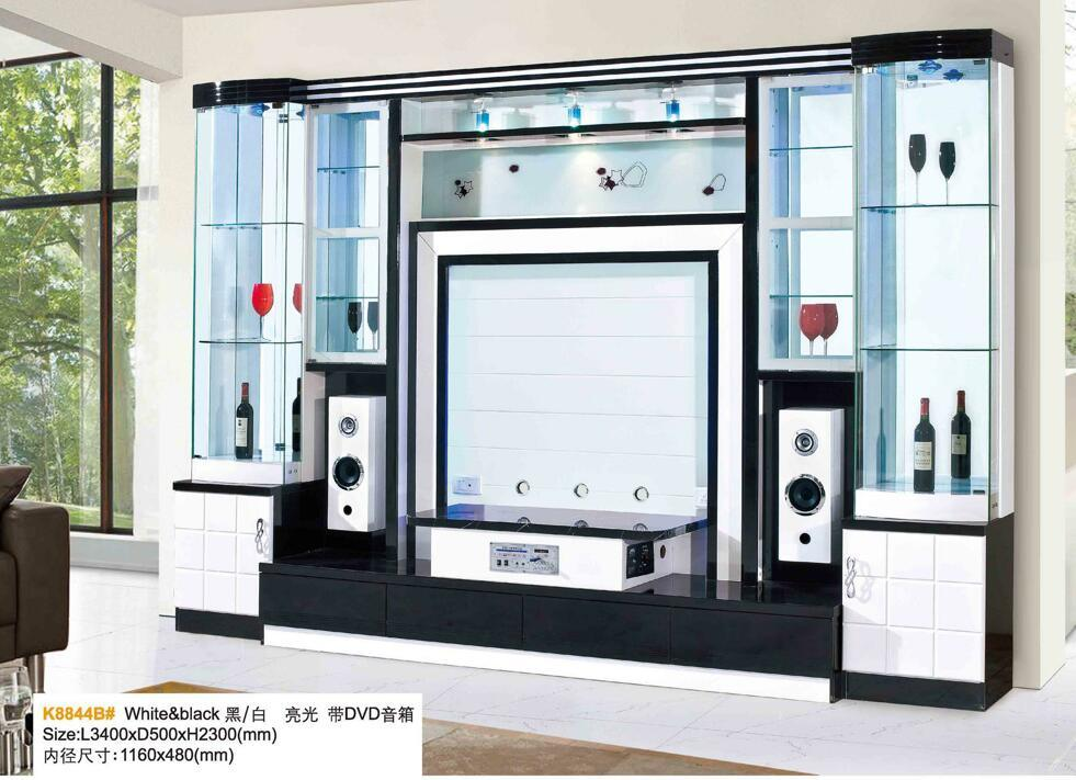 China Modern Living Room Wooden Tv Cabinet With Show Case China Tv Stand Tv Wall Unit