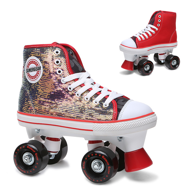 China Odm Sparkling And Canvas Quad Roller Skate For Kids Qs 117 China Impala And Quad Roller Price