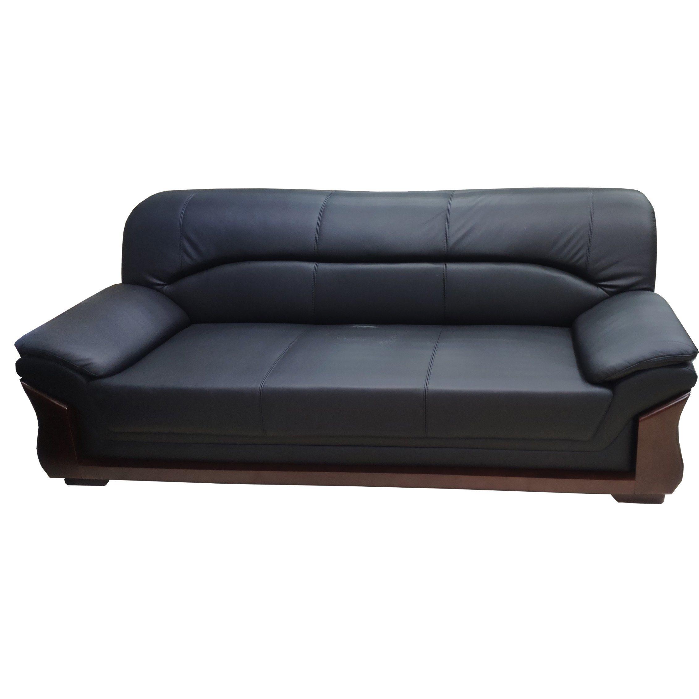Leather Black Office Furniture Sofa