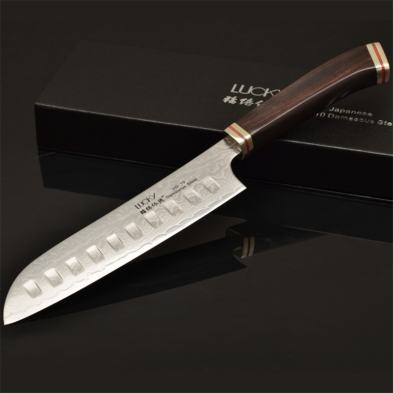 [Hot Item] Razor Blade with Durable Handle Damascus Kitchen Knife for  Kitchen of Home Restaurant Hotel (JD52)