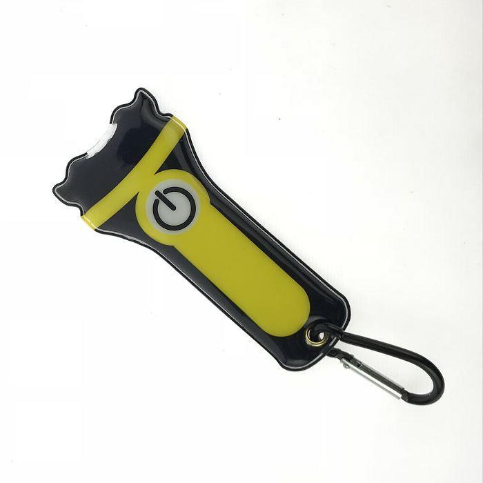 China Promotional Flat Magnetic Flashlight PVC Torch Light, LED PVC