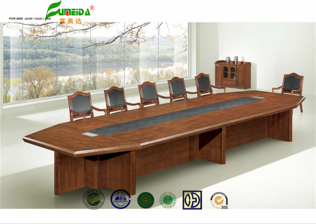 China MDF High End Wood Veneer Conference Table Photos Pictures - Wood veneer conference table