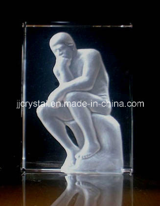 China Crystal Inner Laser Engraving People Cube in 2016 (JD-CT223