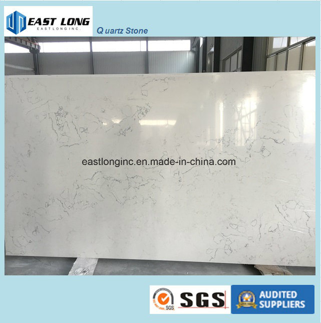 Ce & SGS Certificate Calacatta Quartz Slab Solid Surface for Kitchen Countertop/ Table Top/ Building Material pictures & photos