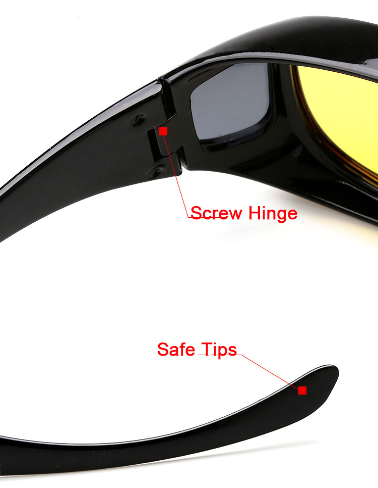 bceb39cde494 New Arrival Plastic Resin HD High Definition Night Vision Polarized Glasses  Driving Yellow Lens