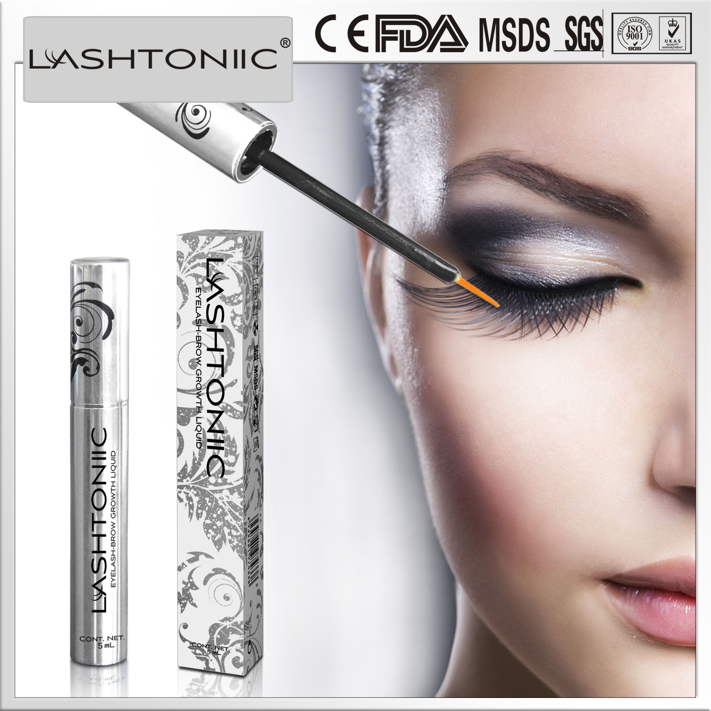 China Eyelash Eyebrow Naturally Grow Product Lashtoniic Eyelash