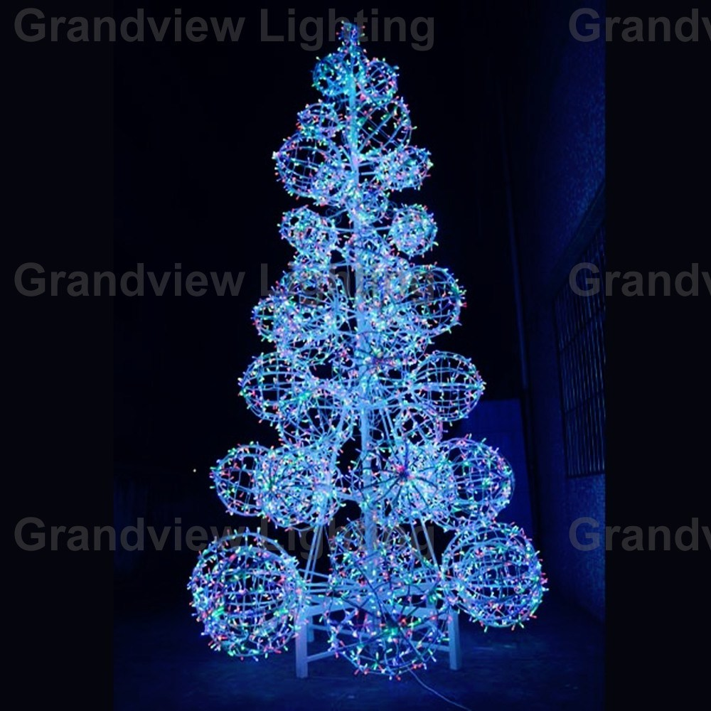 Colorful Square Christmas Tree Light Ball Lights For Holiday Decoration