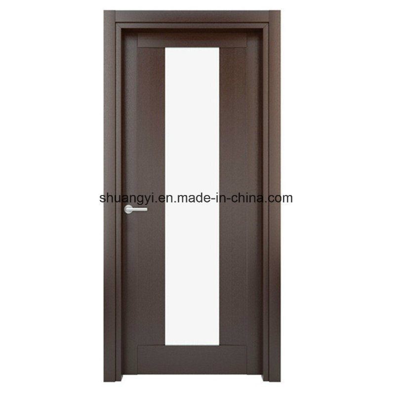 China Interior Pvc Mdf Wooden Glass Bathroom Door Design China