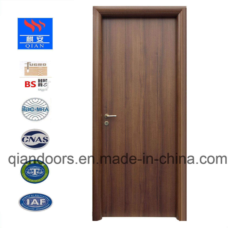 Charming Black Walnut Entry Door Interior Wooden Fire Rate Door With BS Certificate