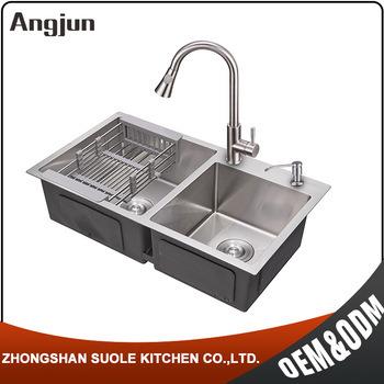 China Best Kitchen Sink Brand Malaysia Stainless Steel Freestanding ...