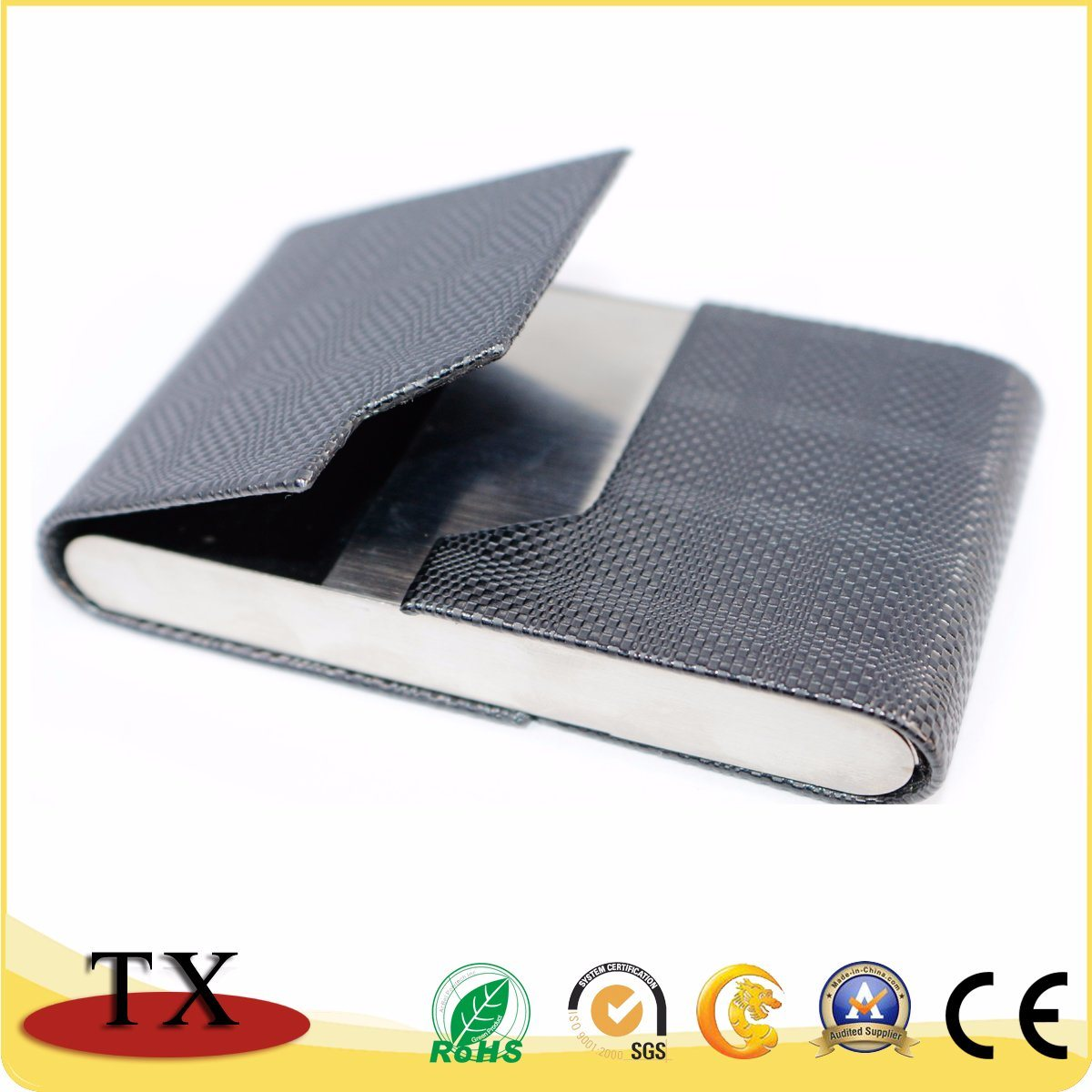 China Customized Business Metal and Leather Name Cardcase with ...