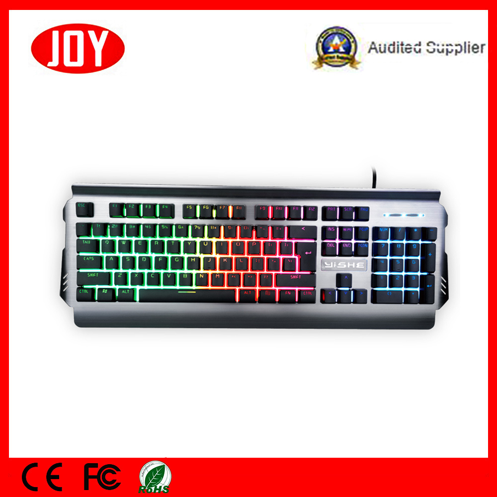 china metal plate mechanical computer usb wired gaming keyboard