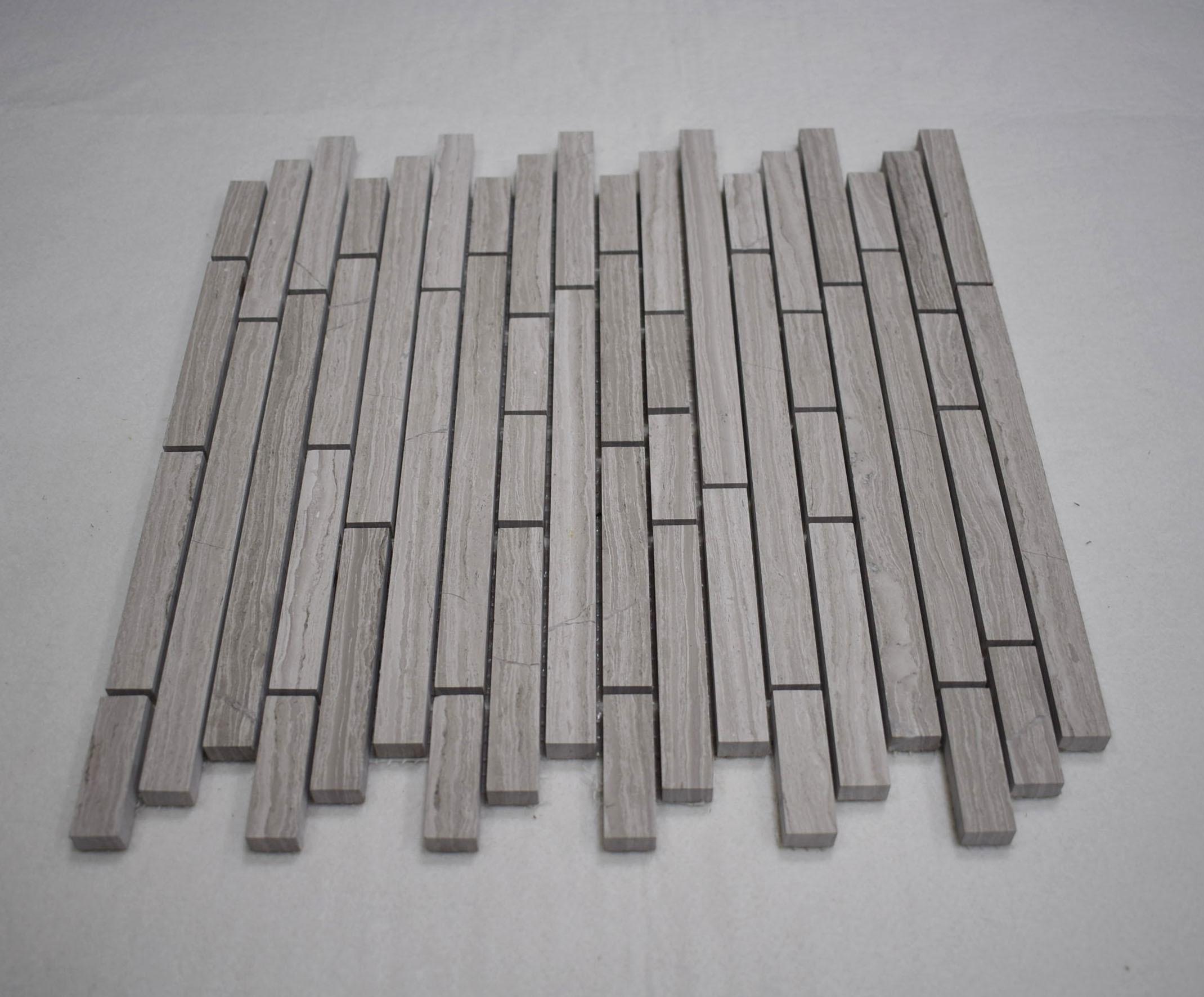 - China Suppliers Kitchen Backsplash White Oak Linear Marble Stone