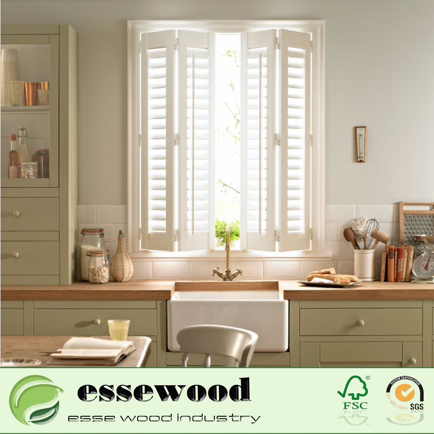 China Good Price Security Cheap Plantation Shutter Window