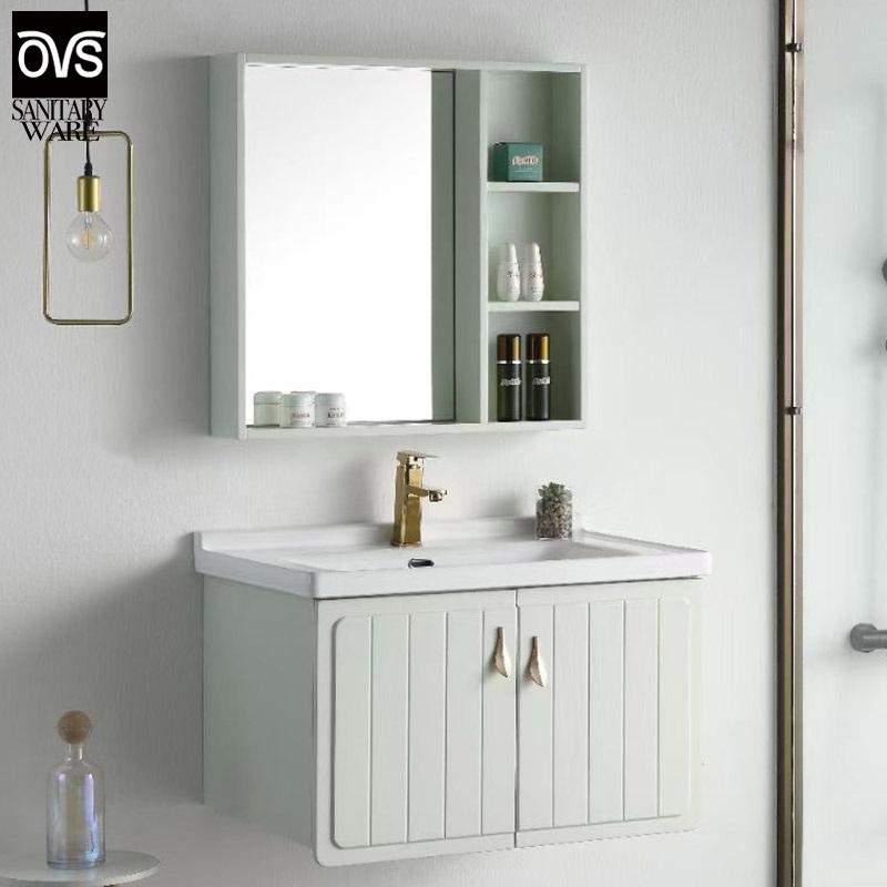 China Oak Bathroom Cabinet Bathroom Vanity Sink Vanity Basin Cabinet Washbasin Combination Modern Minimalist Cabinet China Cabinet Vanity