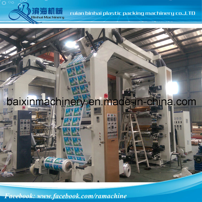 China New Type Six Color Flexo Flyer Printing Machine For Sale
