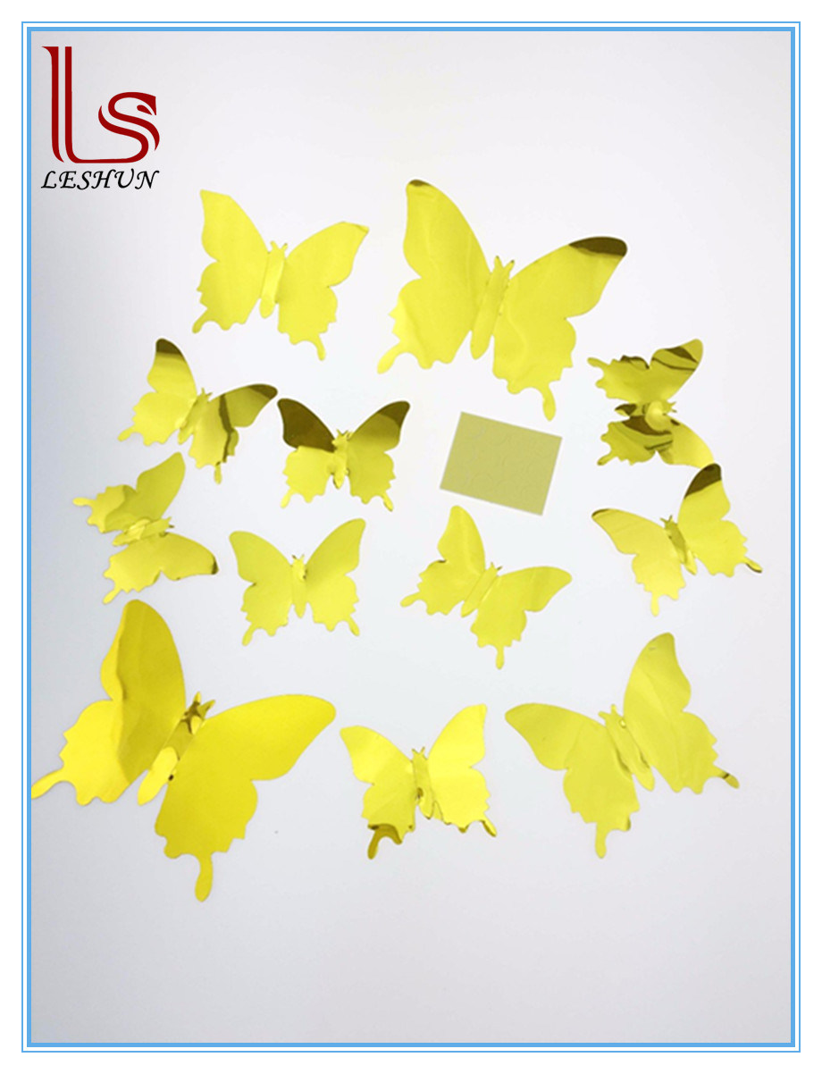 China Butterfly Wall Stickers Party Wedding DIY Home Decorations ...