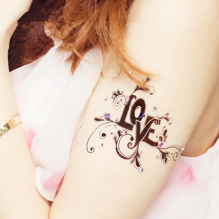 China New Special Feather Tattoo Body Art Tattoo Stickers Men Women ...