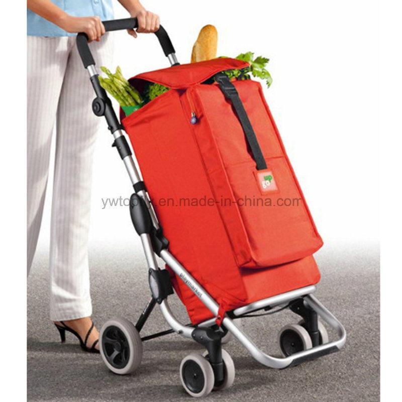 1ba7e0381ebe [Hot Item] Brand New 2 Wheeled Lightweight Luggage Cart Trolley Shopping Bag