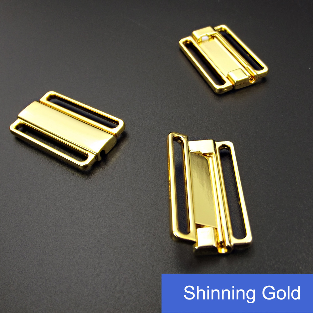 1 Inch Swimwear Golden Clasp in Nickle Free
