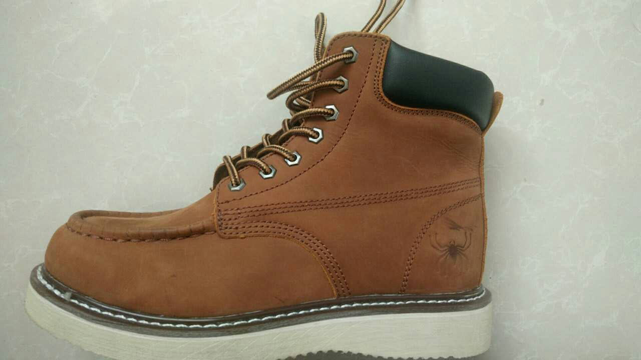 Quality Genuine Leather Safety Boots