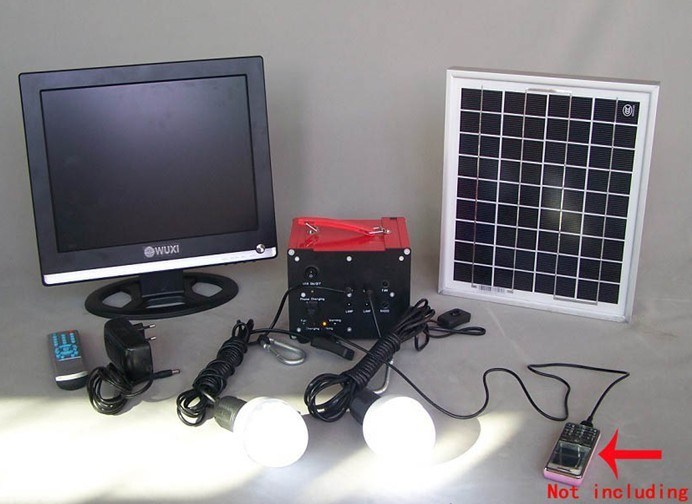 China Solar Tv Amp Led With Phone Charger System China