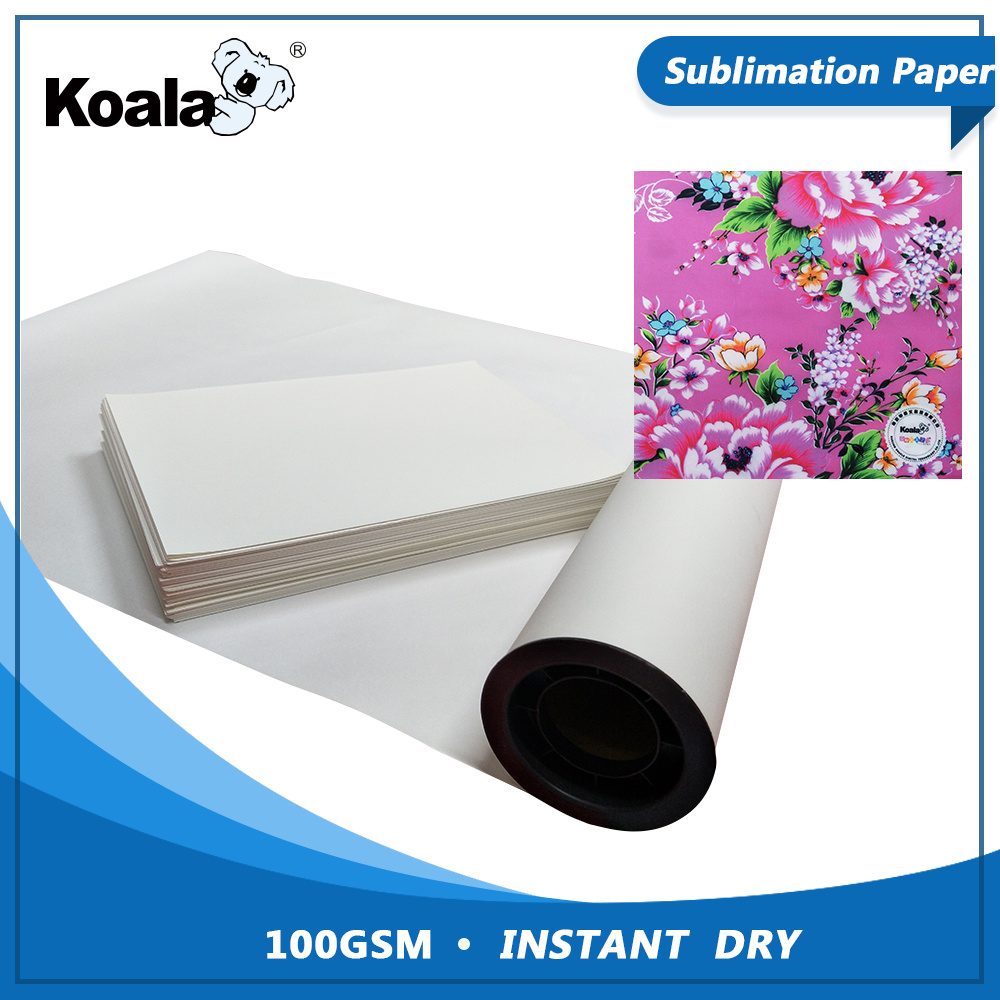 [Hot Item] Factory Wholesale 100g Fast Dry Sublimation Transfer Paper Roll