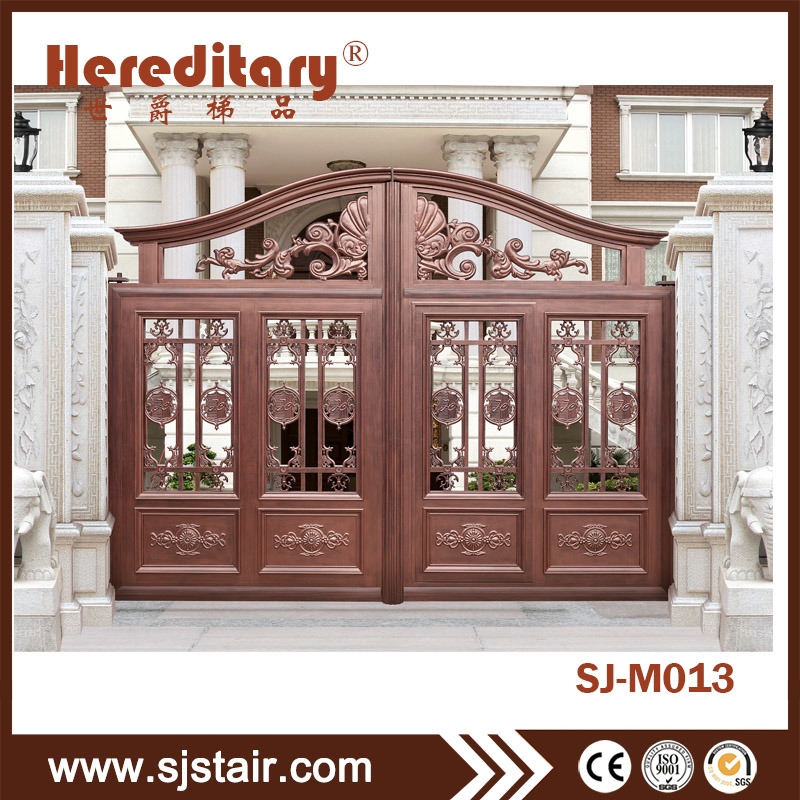 Hot Item Antique Copper Doors Iron Main Gate Designs Aluminum Courtyard Gate