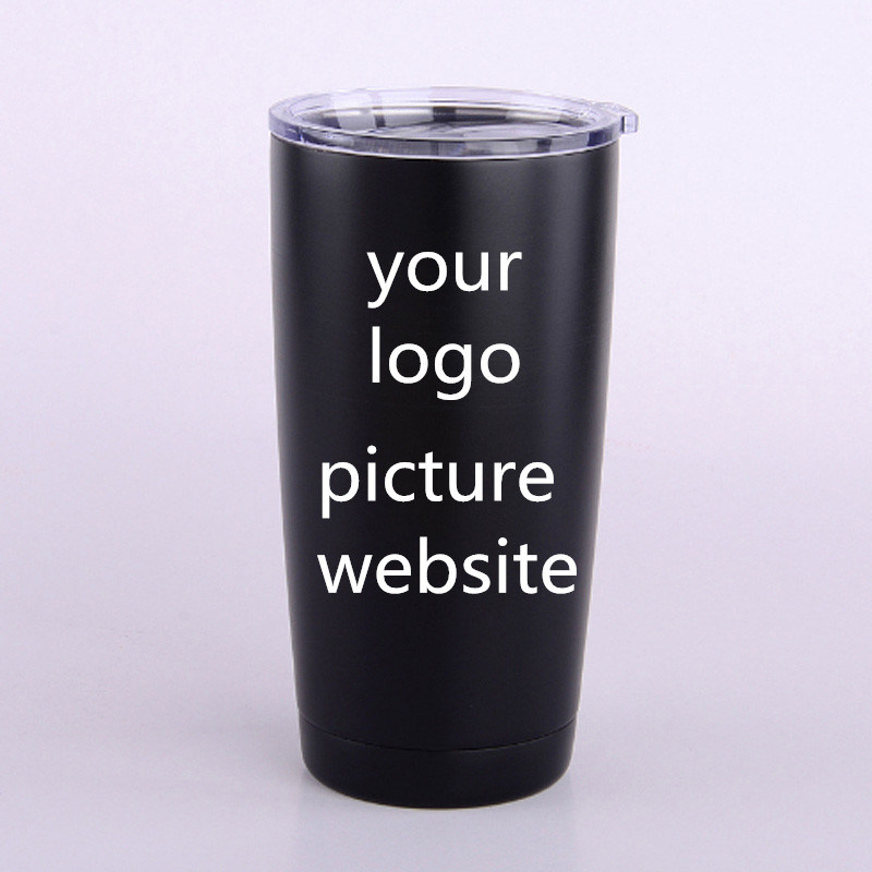 5782b75841b Yeti 20oz/30oz Black Thermos Stainless Steel Insulated Travel Tumbler Cup/ Mug
