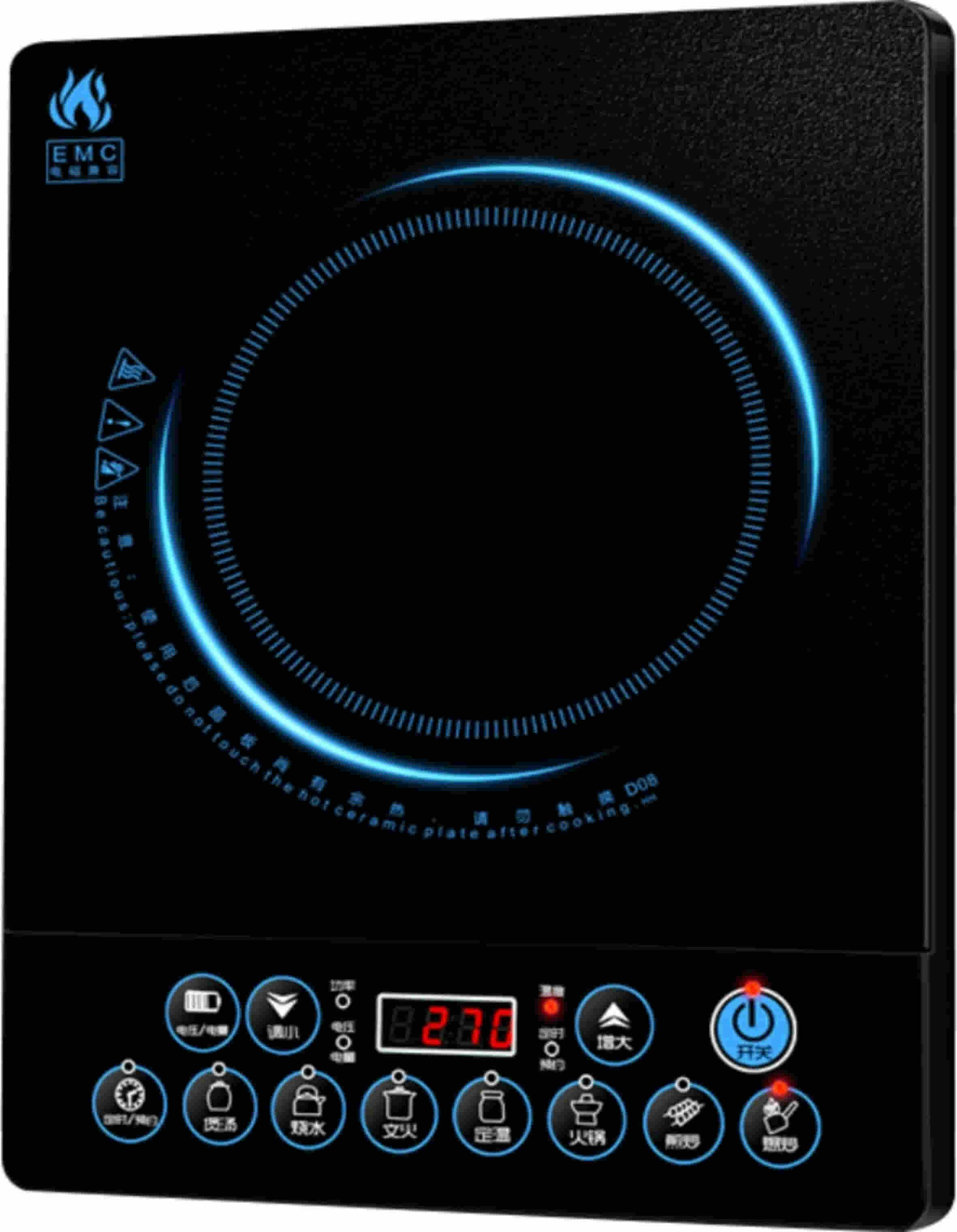 Induction Cooking Surface 2000W LED Display Hob Hotplate Stove Induction Plate