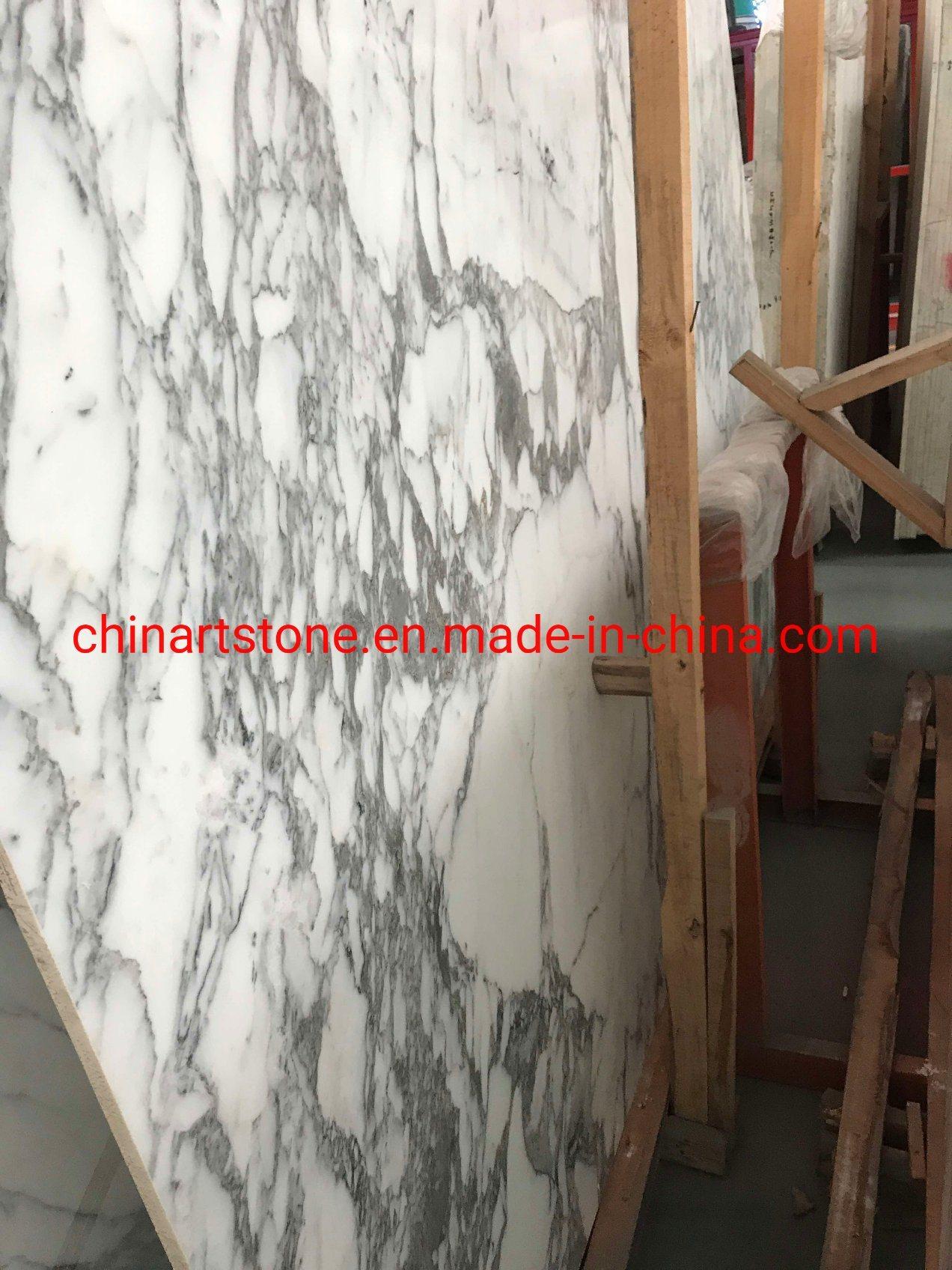 China Bianco Statuary White Marble Slab