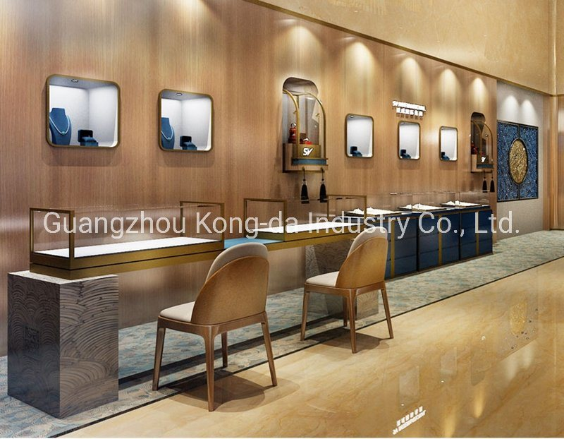 China Hot Modern Mall Jewelry Store Design Fashion Jewelry Shop Display Stand China Display Stand And Jewelry Display Price
