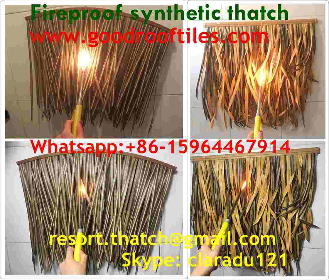 Fireproof Synthetic Thatched Roof Artificial Thatch