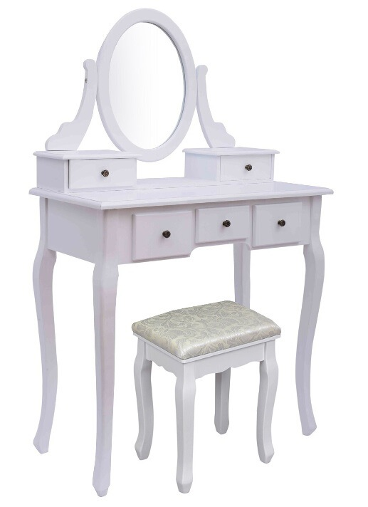 China Wooden White Dressing Tables With 5 Drawers China Vanity