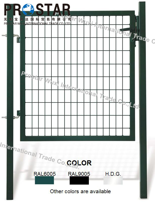 Fence Gate, Iron Gate, Garden Gate, Rectangular Post Gate, Single Wing Gate