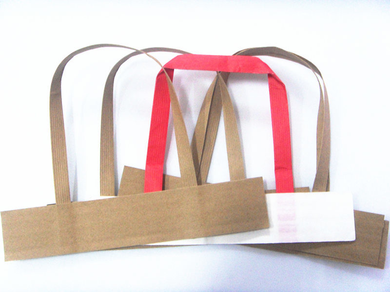 Factory Flat Paper Handle with Stitched Paper for Sopping Bag Handle