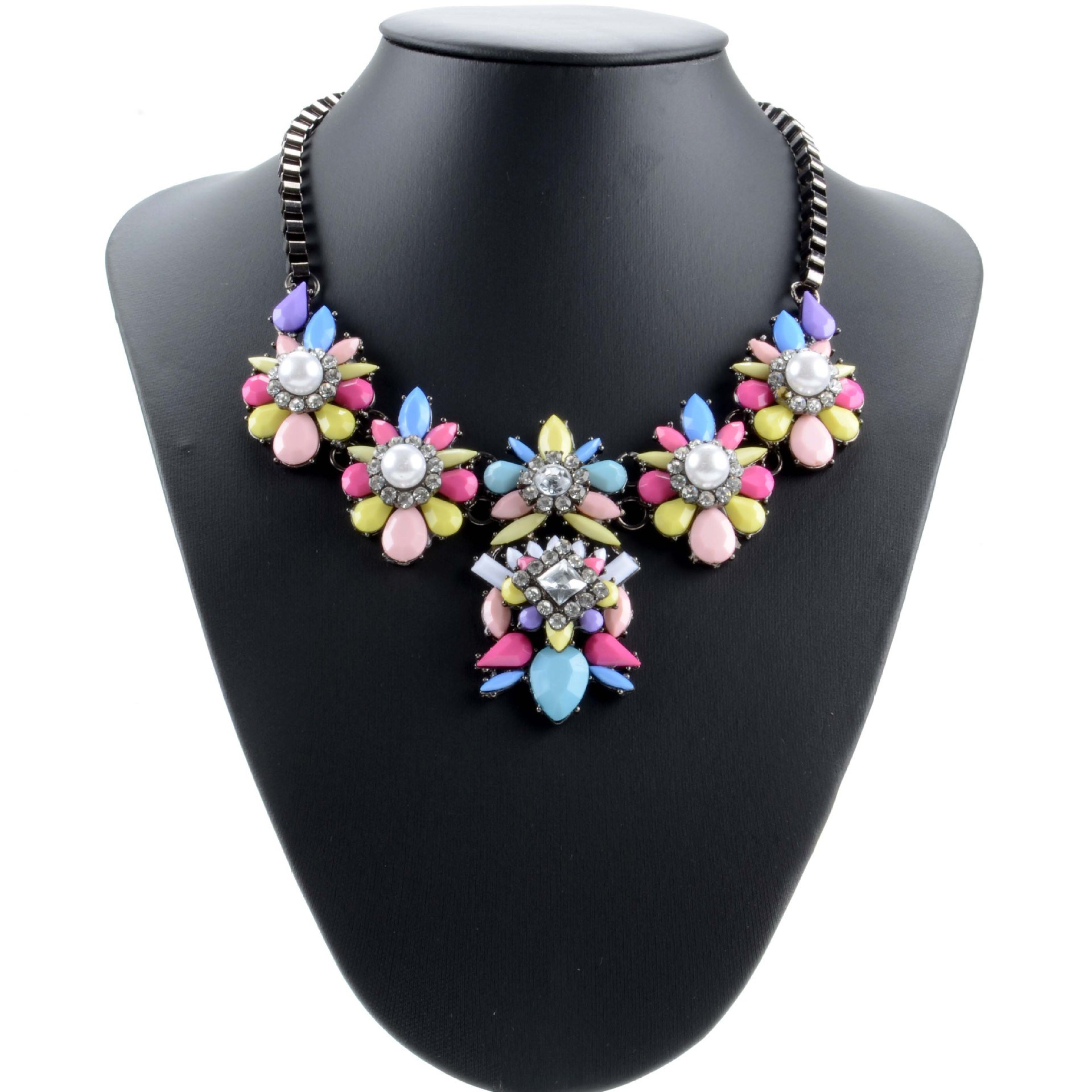 coloured shourouk necklace f multi piuma shouk bysymphony