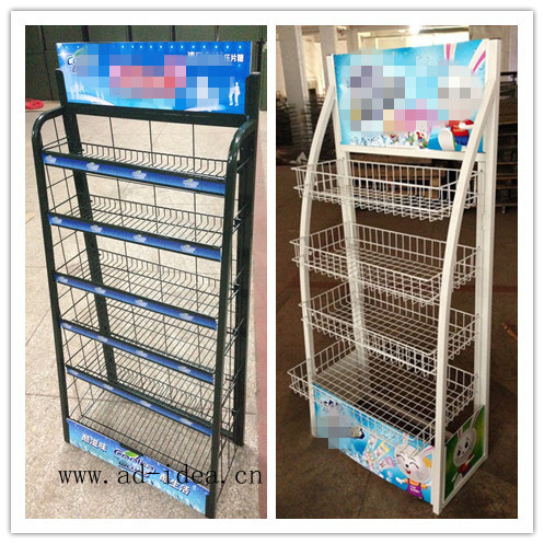 China Metal Wire Mesh Display Rack And Wall Mountable Wire Grids