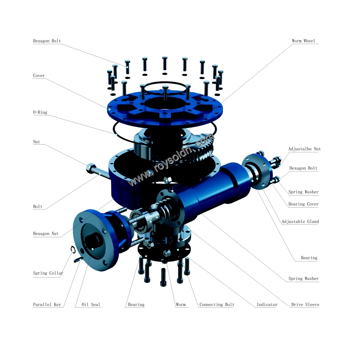 Part-Turn Valve Worm Gearbox