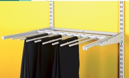 CPR Metal Trousers Rack with Chrome Finish and Satin Nickel Surface Treatment DIY (CC-3)