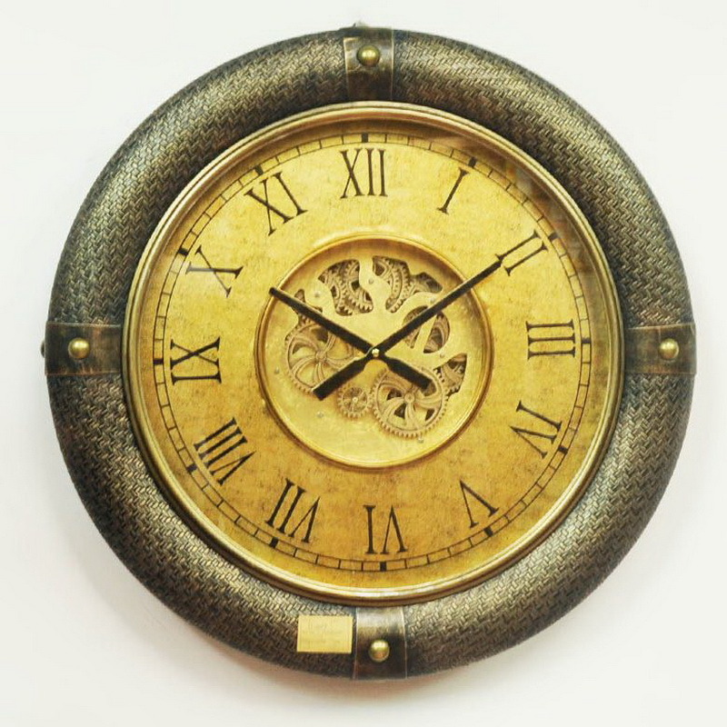 Wall Clock Retro Non Ticking Wood
